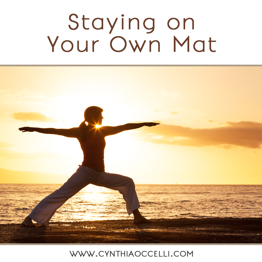 Staying on Your Own Mat