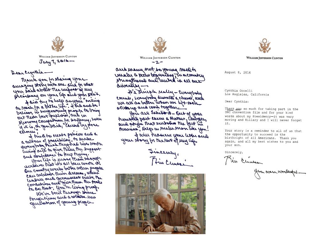 Cynthia Occelli Bill Clinton